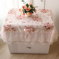 Fashion Home Decoration Square Dustproof Cover Pastoral Style Lace Tablecloth Table Cover new