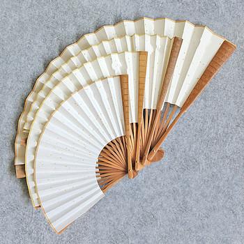 Klasyczny papierowy wachlarz Xuan chiński papier Xuan pusty składany wentylator do pędzla kaligrafia malowidło tuszowe tworzenie sztuka DIY dostaw tanie i dobre opinie Malarstwo papier Chińskie malarstwo
