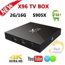 Boîtier smart TV X96 S905X, 1 go 8 go ou 2 go 16 go, Amlogic Quad Core, Android 6.0, Wifi, HDMI 2.0A, 4K * 2K, IPTV