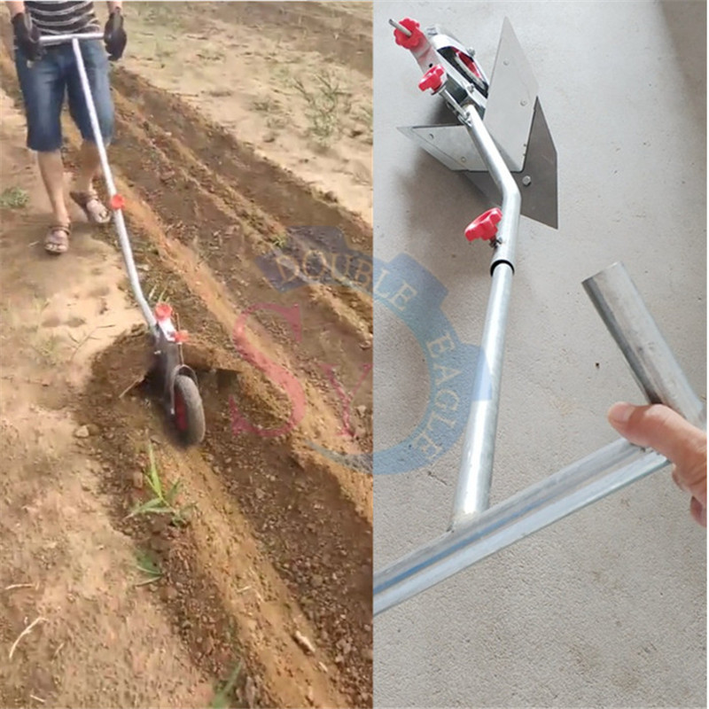 Wholesale Price Cheap Multifunction Furrow Cultivator Manual Ridge Plow/small Agricultural Tool Human Hand Pull Ridge Plough
