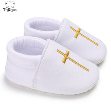 Triursus Brand Baby Boys Girls Prewalker Shoes Christening White Spring Autumn Newborn First Walkers For 0 - 12 Months