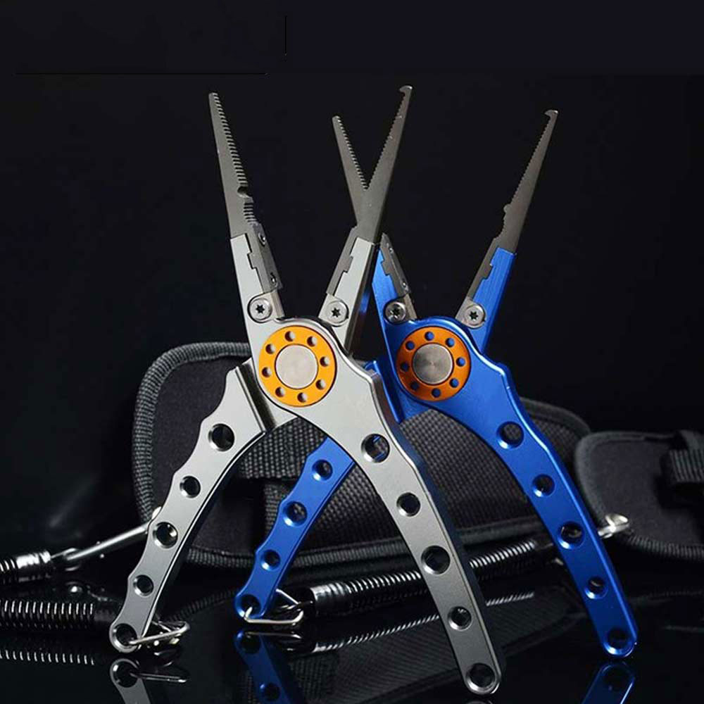Fishing Pliers Aluminum Alloy scissors Hook Remover 150g 20CM Fishing Tools Line Cutter Multifunctional Knot Fishing Equipment image