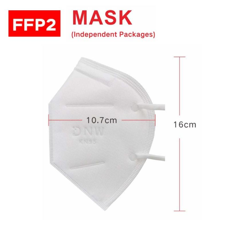 4 Layer KN95 FFP2 Mask With Breathing Valve Equivalent To FFP2 Dust Masks With Valved Face Mask Protection Face Anti-dust