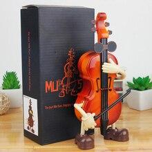 Музыкальная шкатулка ручной работы, детские музыкальные коробочки для украшений, имитация музыкальной коробки, деревянная кукла прямоугольное ювелирное изделие для хранения, подарок для девочек