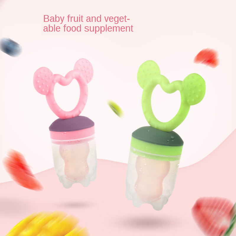 Silicone Food Supplement Baby Nipple Molar Teeth Glue Food Baby Supplies Fruit Vegetable Music Bite