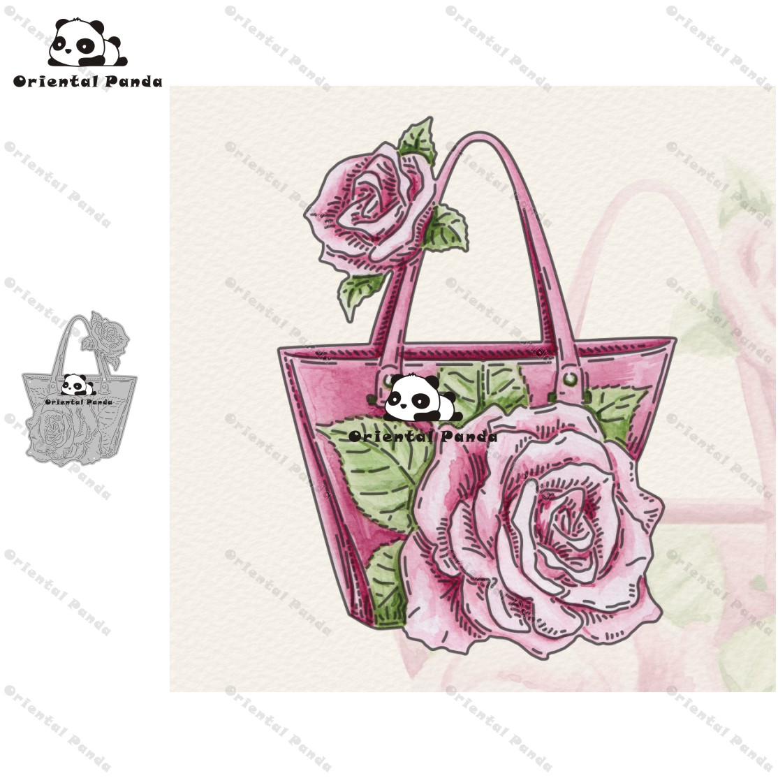 New Dies 2020 Rose Handbag Metal Cutting Dies Diy Dies Photo Album  Cutting Dies Scrapbooking Stencil Die Cuts Card Making