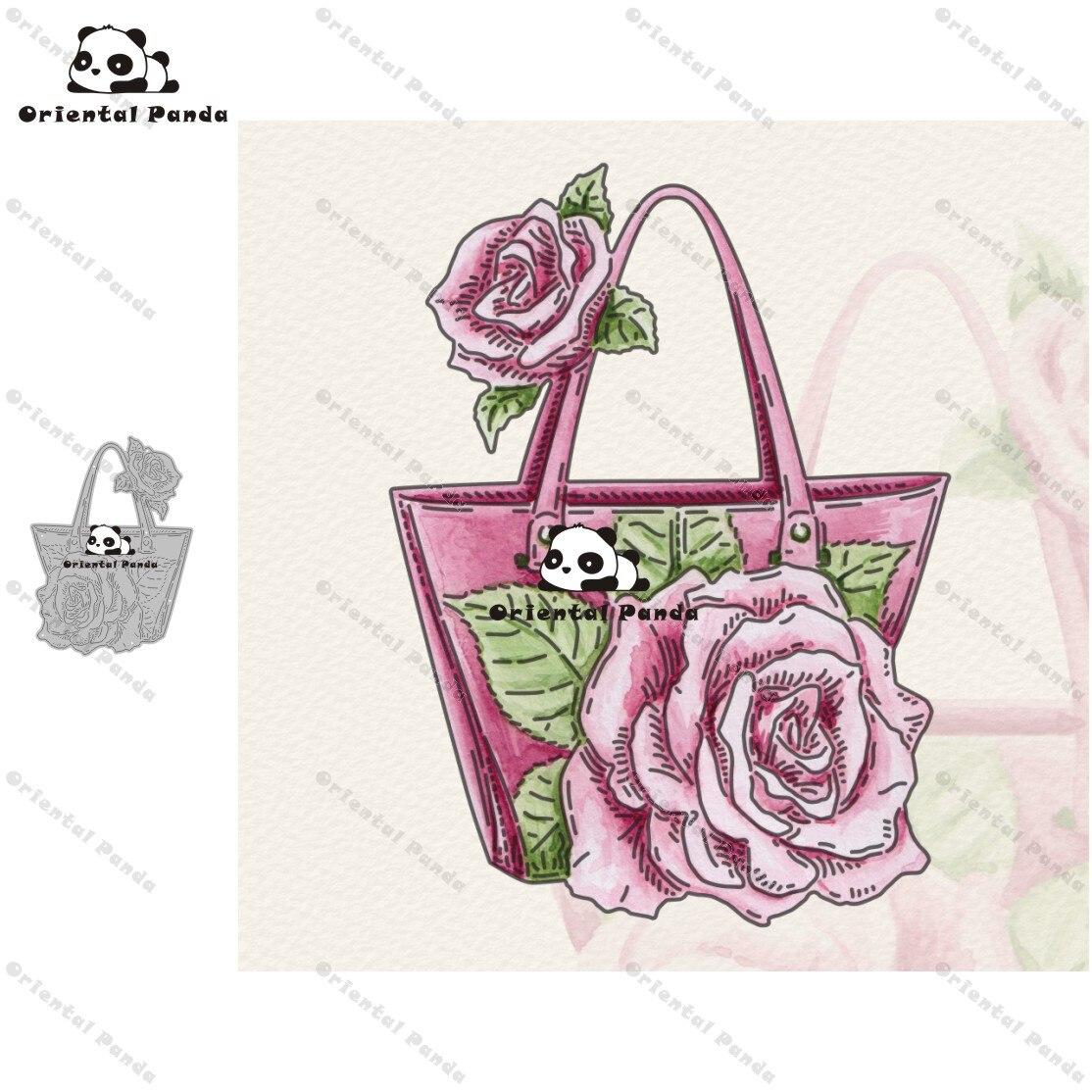 New Dies 2020 Rose Handbag Metal Cutting Dies Diy Dies Photo Album  Cutting Dies Scrapbooking Stencil Die Cuts Card Making