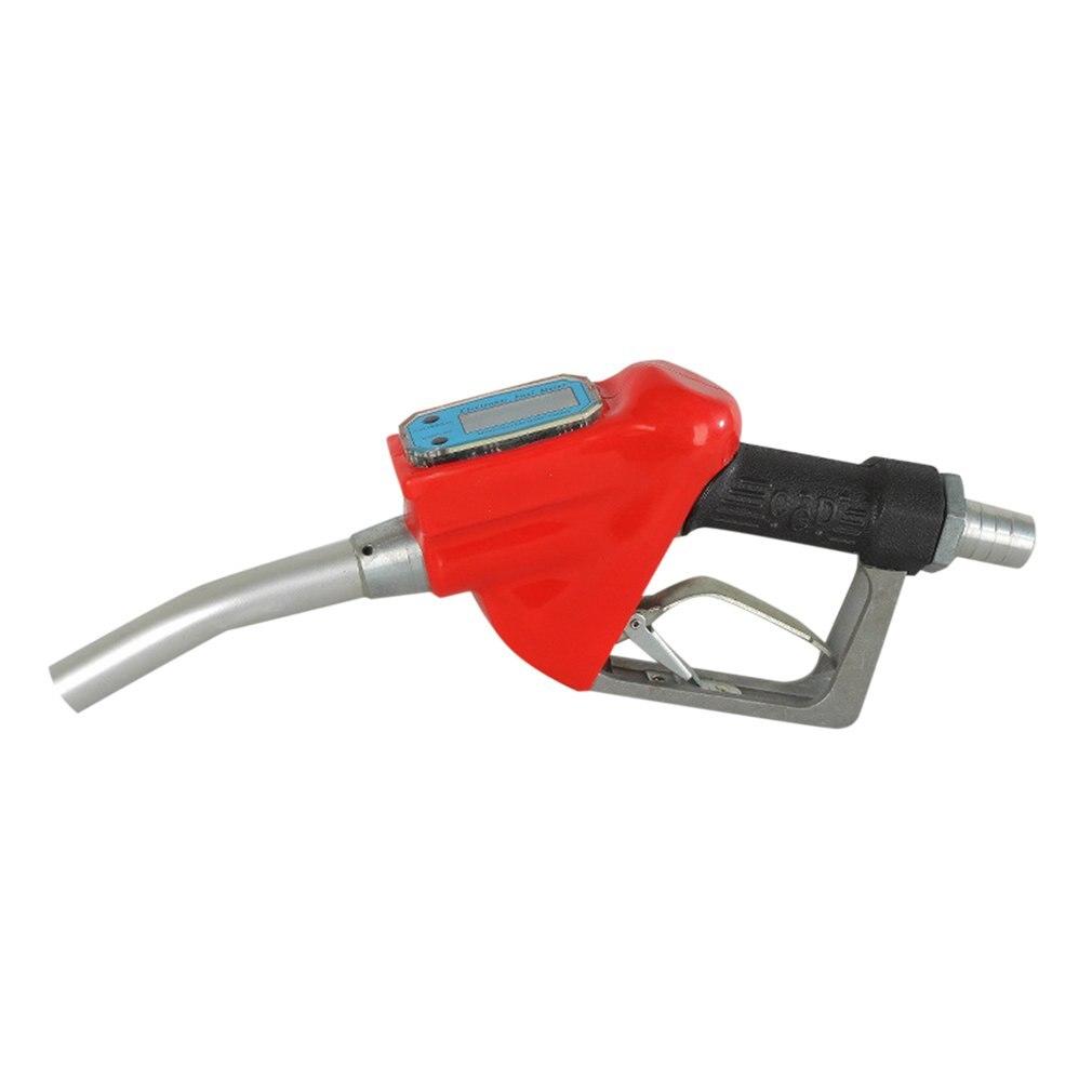 Elektronische Metering Brandstof Pistool Elektronische Digitale Diesel Pistool 1 Inch Turbine Metering Gun Benzine Diesel Olie Pistool