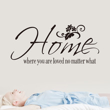 Home Where You Are Home Decor Wall Sticker Decal Bedroom Vinyl Art Mural Waterproof Wall Stickers Home Decor Living Room Mural cheap Plane Wall Sticker Europe For Refrigerator For Wall Furniture Stickers Window Stickers Single-piece Package Room Window Wall Mural Decorative
