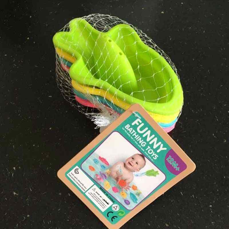 4 unids/set barco juguete de baño para bebé plástico clásico tiburón bajo el agua baño natación juguete para baño infantil Dropshipping