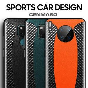 Оригинальный Роскошный чехол из углеродного волокна из натуральной кожи для Huawei Mate 30 20 Pro противоударный защитный чехол для телефона задняя...