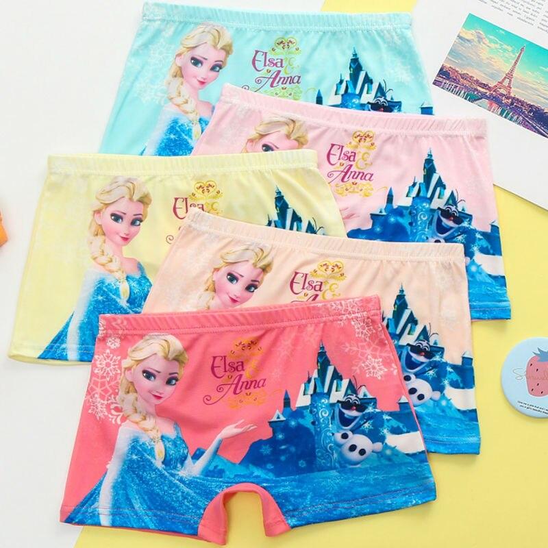 5 штук из мультфильма «Холодное сердце детская нижнее белье с изображением персонажей из мультфильмов для девочек; Нижнее белье для маленьк...