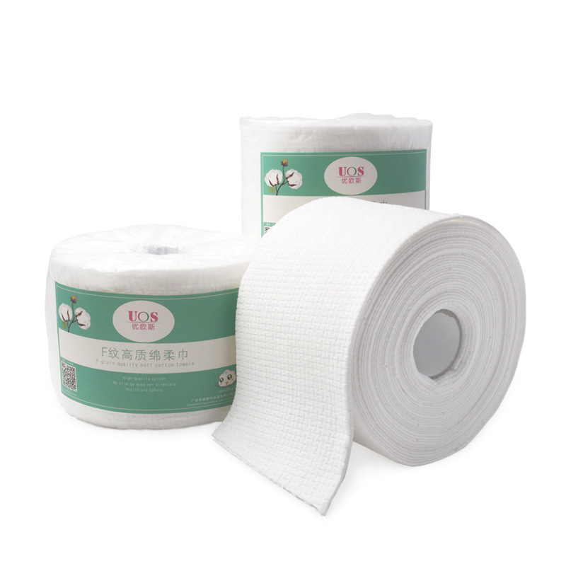 Non-woven Fabric Washcloths Paper Towels Disposable Cleaning Face Towel Wash Face  Towels Travel Wet Wipes Beauty Paper 2 Rolls