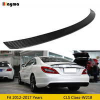 AMG Style Carbon Fiber rear trunk spoiler For Benz CLS Class CLS250 CLS350 CLS63 AMG W218 2012 2017 year Car rear wing spoiler