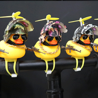Car Interior Decoration Yellow Duck with Helmet for Bike Motor Accessories Without Lights Auto Car Accessories Duck In The Car 2