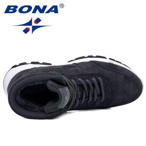 Image 5 - BONA 2019 nowi projektanci zamszowe trampki platforma ciepłe pluszowe buty zimowe damskie klinowe wysokie góry rekreacyjne buty damskie wygodne