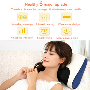 Image 4 - Neck Shoulder Back Body Electric Massage Pillow Infrared Heating Shiatsu Massager Device Cervical Healthy Massageador Relaxation