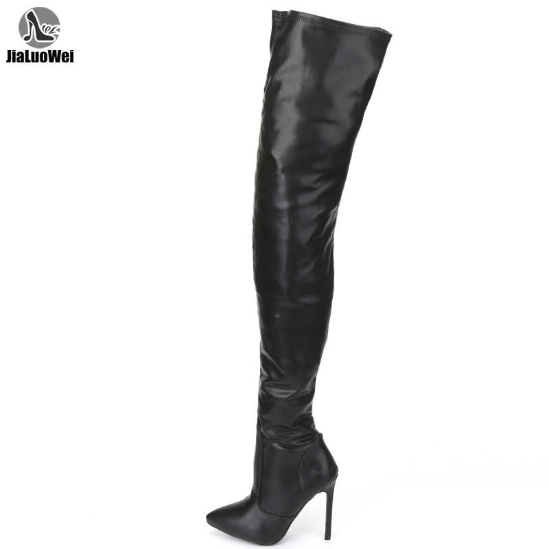jialuowei Thigh High Boots Stiletto