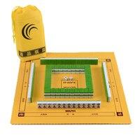 Hot Mini 22MM/24MM Portable Travel Mahjong Set Carry Bag Mah jong With Leather Table Mat Indoor Entertainment Majiang Board Game