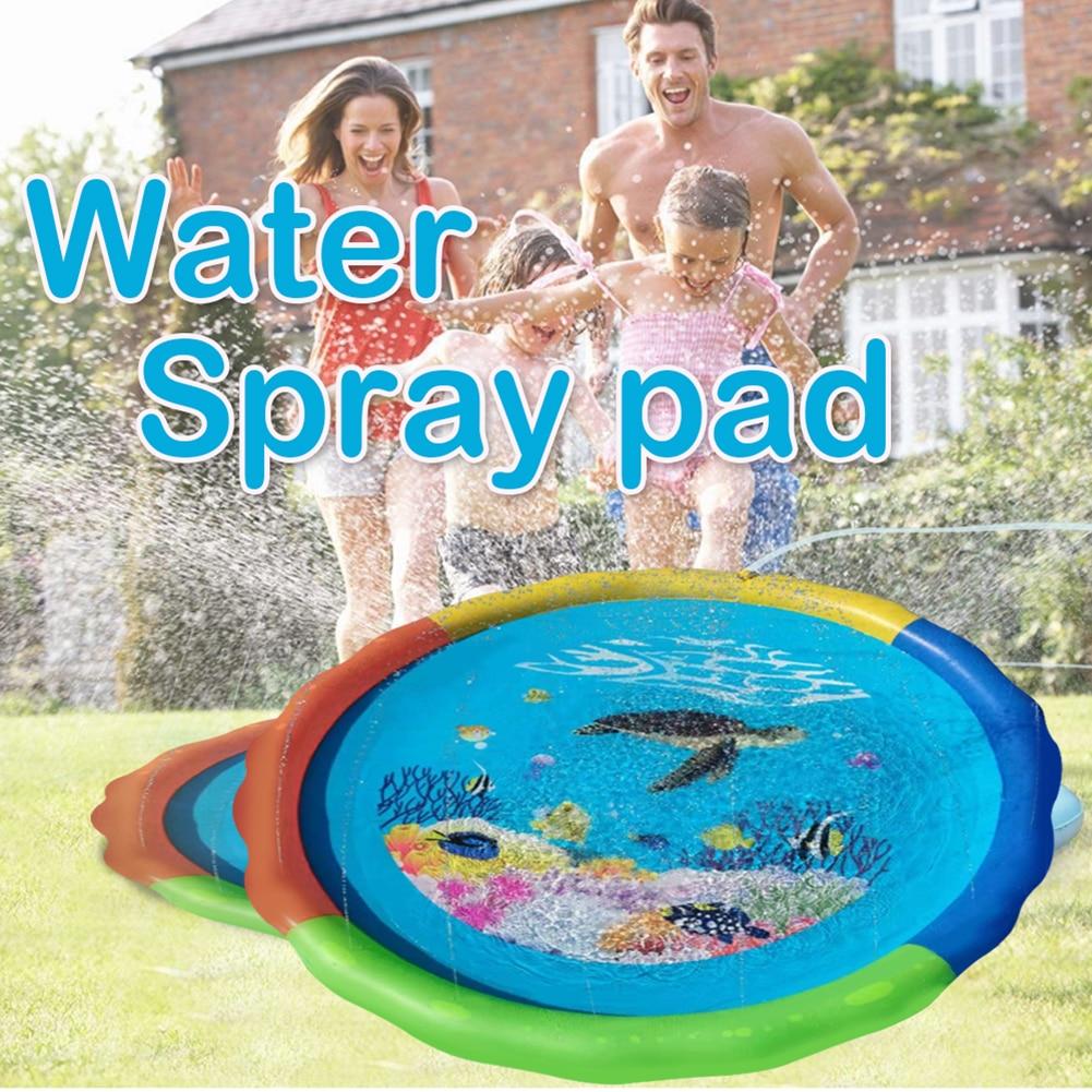 Outdoor Lawn Water Cushion Baby Kids Spray Sprinkler Water Game Pad Fountain Toy Games Beach Lawn Sprinkler Pads