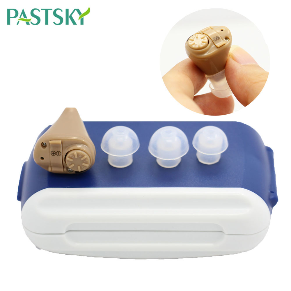 Invisible Hearing Aid Portable Personal Small Stereo Sound Amplifier Ear Tone Volume The Elderly Hear Improve Speech Resolving