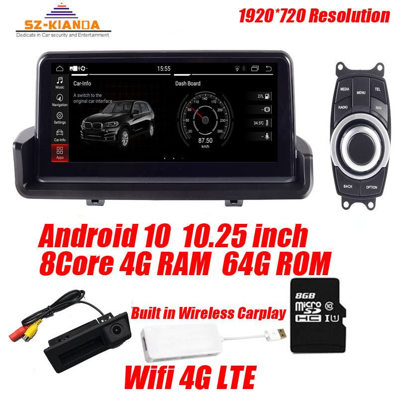 In Stock 4G+64G android 10.0 Car radio GPS Navigation for BMW 3 series E90 318i 320i E91 E92 E93 with Wifi bluetooth Idrive Map