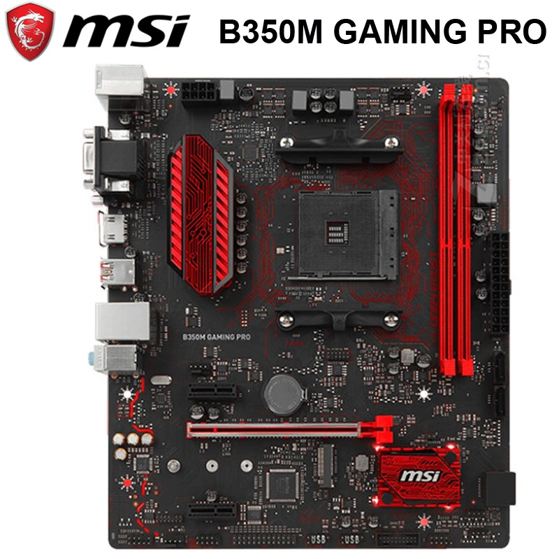 Socket AM4 MSI B350M GAMING PRO Motherboard DDR4 32GB PCI-E 3.0 AMD B350 Desktop MSI B350 Mainboard AMD Ryzen M.2 SATA III