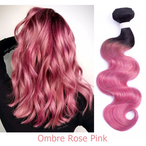 Image 5 - Bobbi Collection 1 Bundle Brazilian Body Wave Ombre Grey Pink Rose Golden Remy Human Hair Extension Ombre Hair Weave Bundles