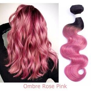 Image 5 - Bobbi Sammlung 1 Bundle Brasilianische Körper Welle Ombre Grau Rosa Rose Goldene Remy Menschenhaar Verlängerung Ombre Haarwebart Bundles