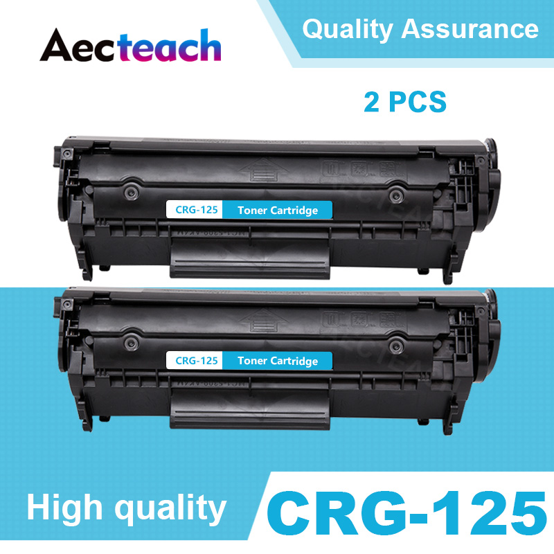 2 Pack Compatible CRG 125 325 725 925 BK Laser Toner Cartridge for <font><b>Canon</b></font> imageCLASS <font><b>LBP6000</b></font> LBP6018WL LBP6030w MF3010 Printers image