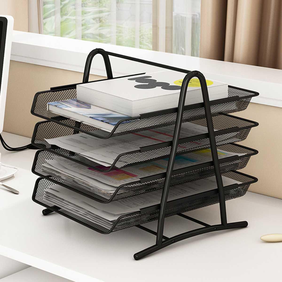 Büro A4 Papier Organizer Dokument Datei Brief Buch Broschüre Füllung Tablett Rack Regal Träger Metall Draht Mesh Lagerung Halter Neue