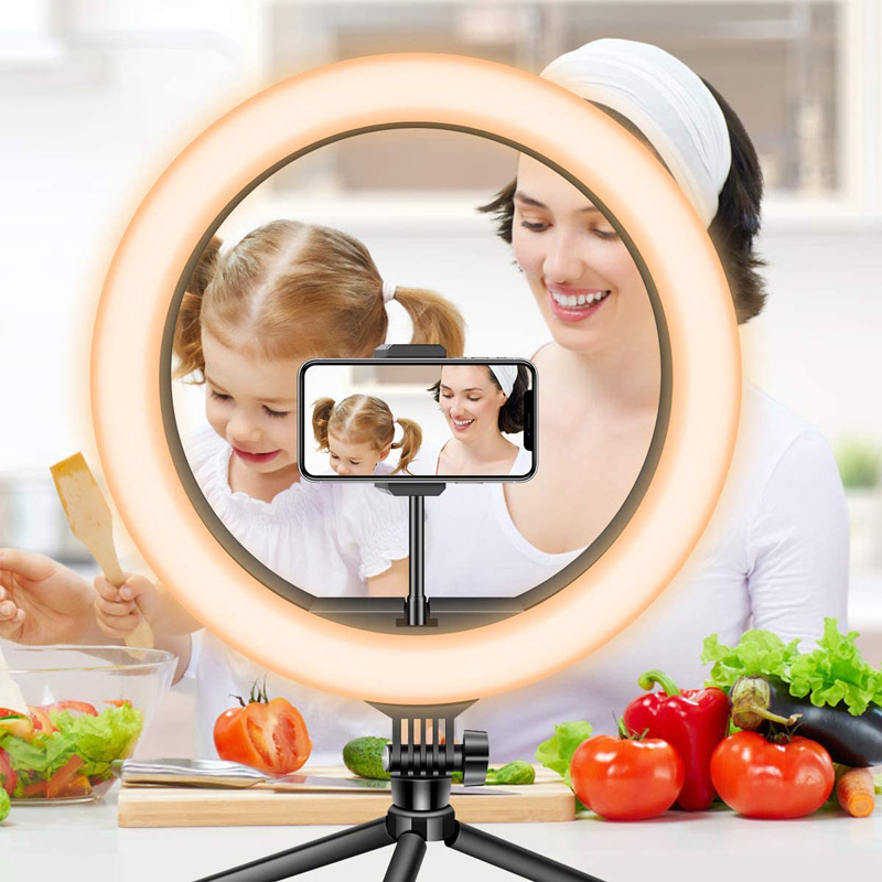H1b94c85c721f4728944e1f5a19716766s Video Lights Dimmable Light Selfie LED Ring Light USB Ring Lamp With Tripod Stand Rim Of Light To Make TikTok Youtube ringlight
