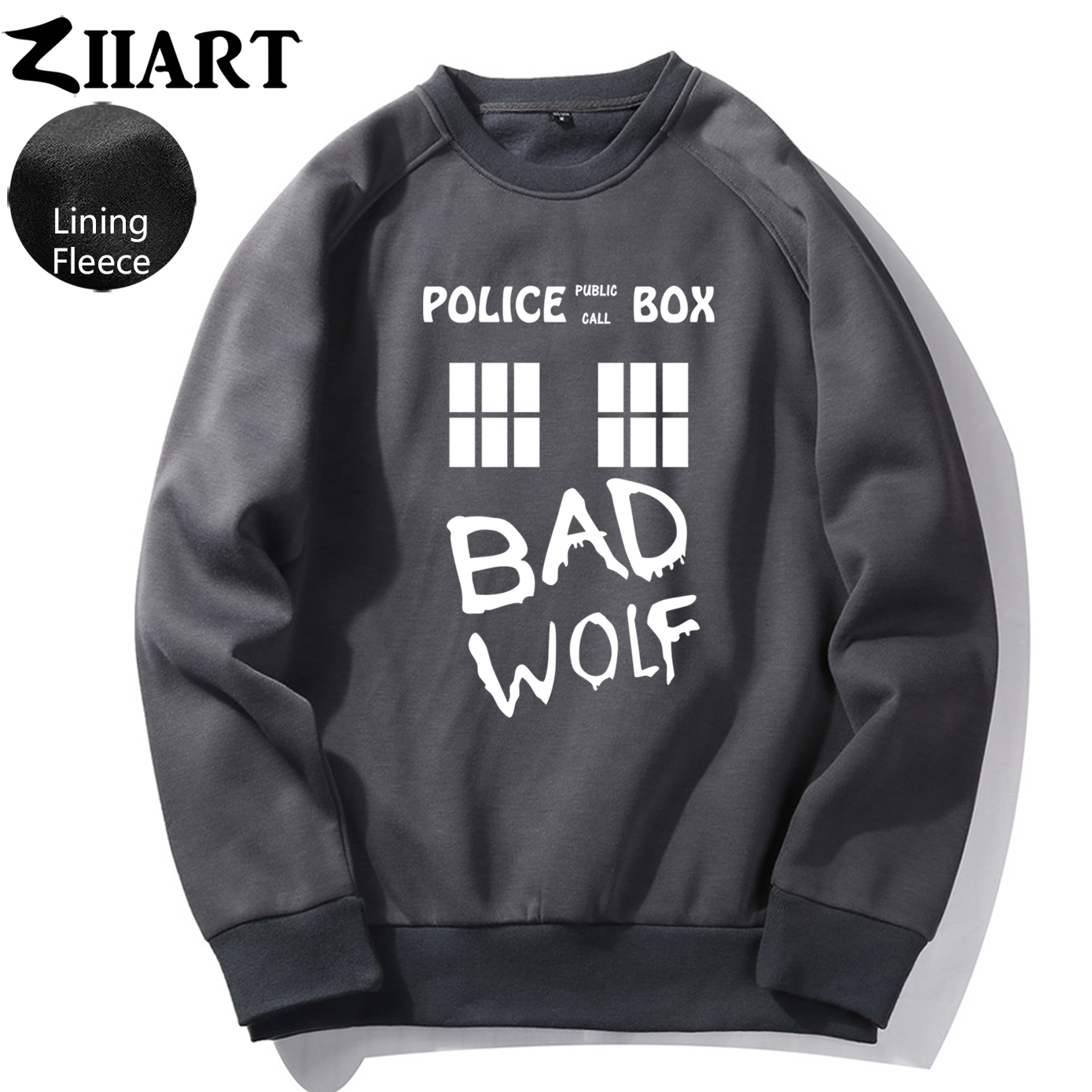 Doctor Who Bad Wolf Public Call TARDIS Police Box Girls Woman Fleece Sweatshirt  Couple Clothes ZIIART