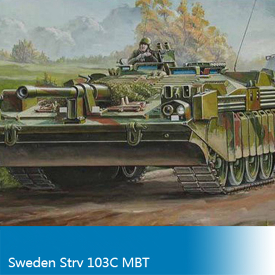 <font><b>Trumpet</b></font> 00310 Model Tank Building Kits 1:35 Scale SWEDEN STRV 103C MBT Assembly Toys For Kids Children & Adults image