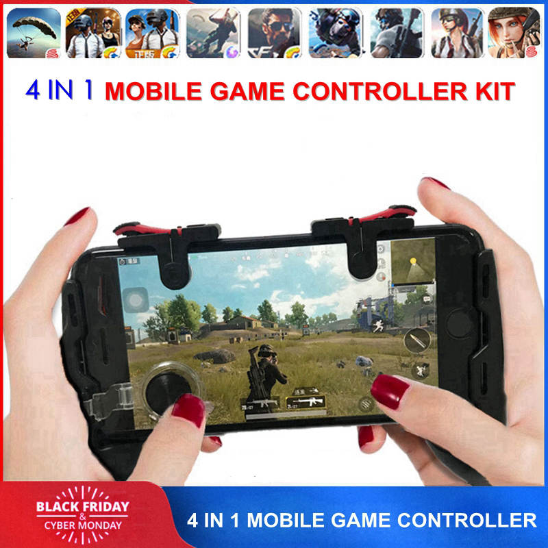 Free Fire PUBG Mobile Joystick Controller Gamepad PUGB L1 R1 Mobile Gaming Trigger Button L1R1 Shooter Phone Game Pad for iPhone