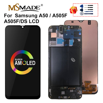 "6.4"" Super AMOLED LCD For Samsung Galaxy A50 2019 A505F/DS A505F A505FD A505A LCD Display Touch Screen Assembly Replacement Part"