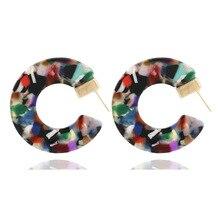 CC acrylic earring 2019 Women Acetate Stud Bohemian leopard  Statement Earing luxury Fashion Jewelry