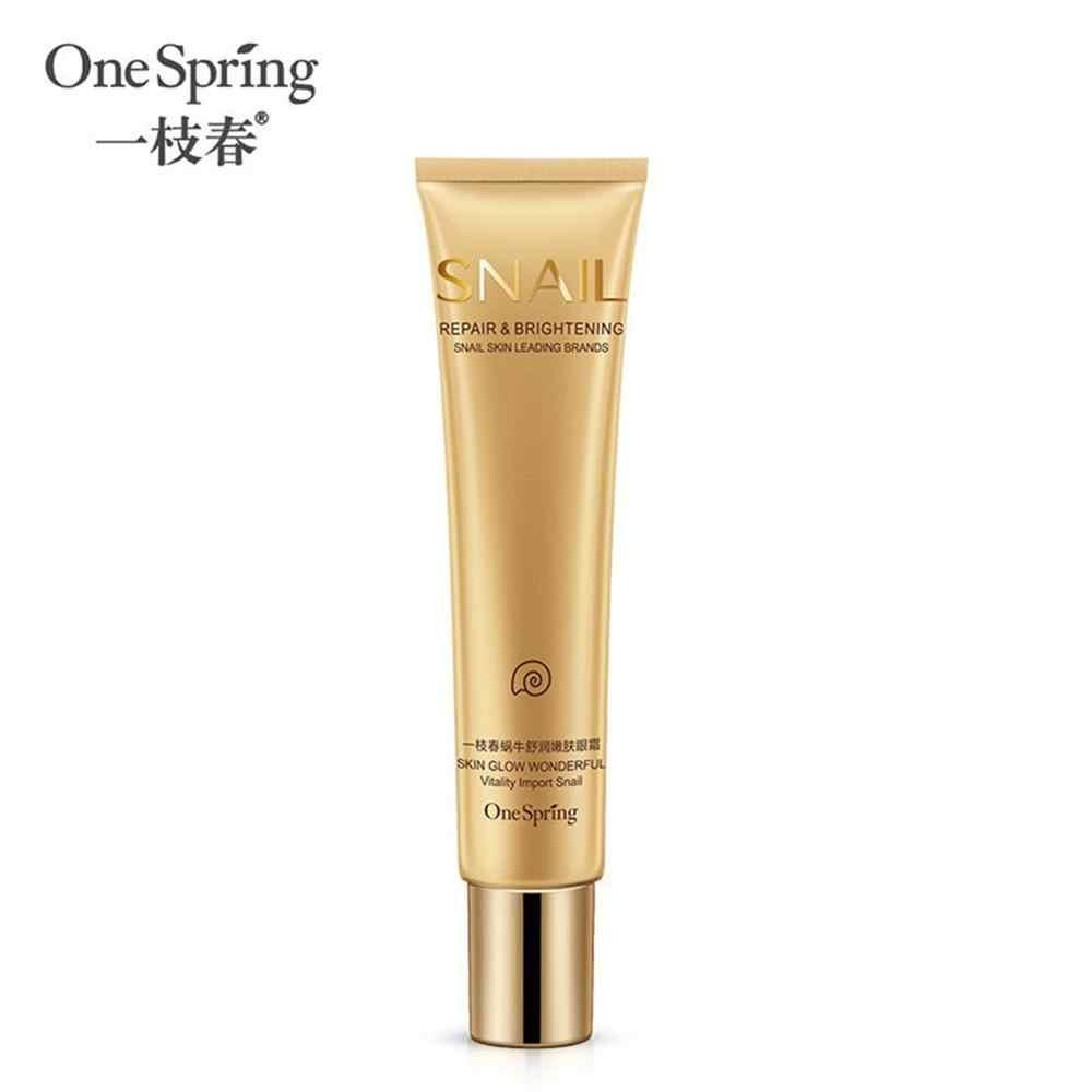 Una primavera Caracol crema de ojos Anti-envejecimiento y ojo Anti hinchazón cuidado esencial para Remover círculo oscuro reafirmante cara Crema de cuidado de la piel