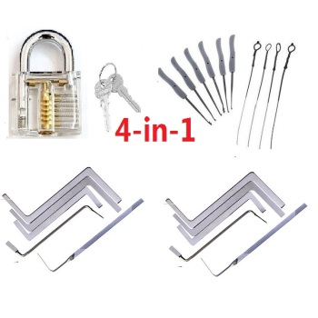 Locksmith Tools Practice Transparent Lock Kit With Broken Key Extractor Wrench Tool Removing Hooks pick tool