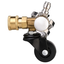 Undercarriage Cleaner Swivel Wheel for Pressure Washer, Underbody Car Wash, 1/4 Inch Quick Connector, 4000 PSI