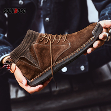 Brand Men Snow Boots Winter Plush Warm Men Motorcycle Boots Lace-Up Non-slip Male Ankle Boots Waterproof Autumn Man Work Shoes mycolen new fashion keep warm cotton ankle boots autumn winter motorcycle boots snow men shoes with zipper erkek bot ayakkabi