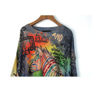 Image 3 - XITAO Tide Letter Print Sequin Sweater O Neck Long Sleeve Fashion Loose Casual Plus Size Top Women 2019 Autumn New Korea WQR1966