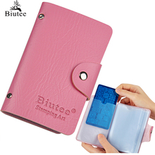 Biutee 24 Slots Nail Art Stamp Plate Stamping Plates Holder Storage Bag  Durable PU Leather Cases Stamp Bag Organizer