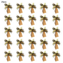 25pcs Mini Coconut Tree Design Hawaiian Style Paper Gift Boxes Candy Boxes for Wedding Party Christmas Favors Fashion Cute(China)