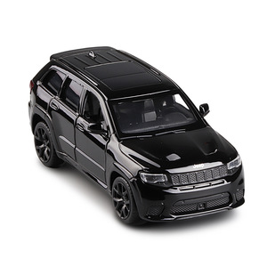 1/36 Grand Cherokee Trackhawk Toy Vehicles Alloy Pull Back Mini Car Replica Authorized By The Original Factory Model Toys Kids
