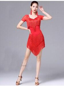 Image 4 - Женское платье с кисточками для латинских танцев, модное платье для латинских танцев для женщин, женское международное стандартное бальное платье для танцев ча Сальса