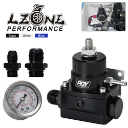 LZONE - AN8 high EFI pressure fuel regulator w/ boost -8AN 8/8/6 PQY Fuel Pressure Regulator with gauge JR7855