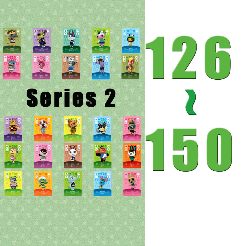 (126 To 150)  Animal Crossing Card Amiibo Printed NFC Card Compatible Pick From The List