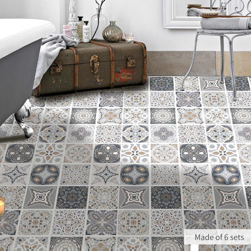 Piastrelle Decorative Per Tavoli funlife stile marocchino pavimento di piastrelle adesivo, impermeabile  bagno cucina anti-skid pvc pavimenti, mobili decorativi della parete