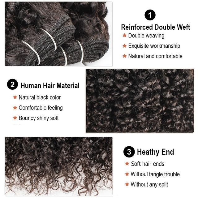 Bobbi Collection-mechones con cierre, cabello humano brasileño no Remy, marrón oscuro, Jerry, Rizado corto, estilo Bob, 50g/Ud.